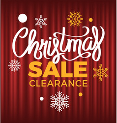 christmas sale clearance from shops winter offer vector image