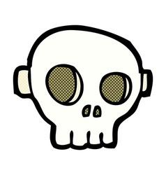 Comic cartoon spooky skull mask vector