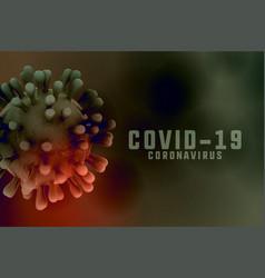 Coronavirus infection background with 3d virus vector