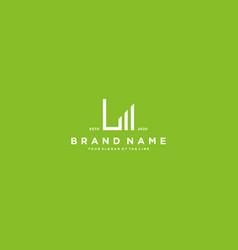 Creative letter l financial chart logo design vector