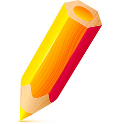 cute orange wooden little pencil vector image