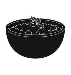 delicious vegetarian porridgeporridge for vector image