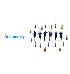Democracy system government population vector