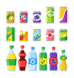 Drink beverages cold energy or fizzy soda vector