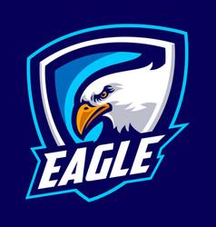 Eagle mascot logo sport vector