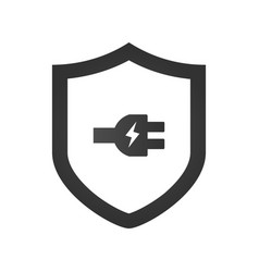 electric shield icon logo design element with vector image