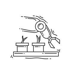 Farming robotic icon hand drawn icon set outline vector