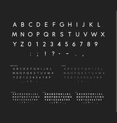 Font with soft corners linear sans serif alphabet vector