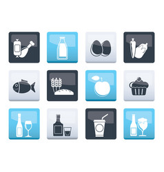 Food drink and aliments icons vector