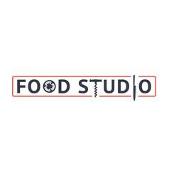 food studio emblem vector image
