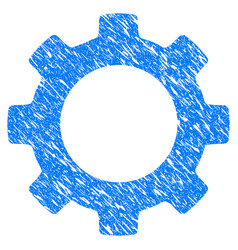 Gear grunge icon vector