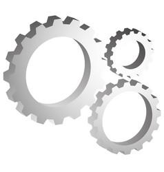 gear wheel gear cogwheel graphic for development vector image