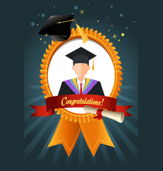 Graduation student ribbon vector