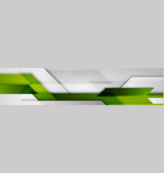 green grey abstract technology banner background vector image
