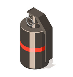 hand grenade icon isolated on white background vector image