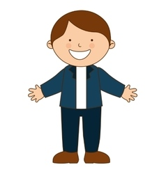 Happy boy student uniform isolated vector