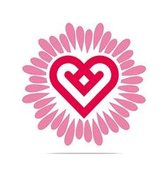 Heart abstract design business flower vector