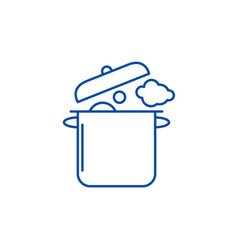 home cooking line icon concept home cooking flat vector image