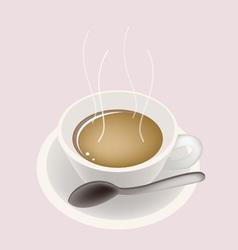 Hot Coffee Background vector image