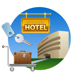 hotel service icon vector image