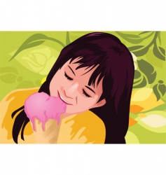 ice-cream child vector image