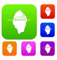 iceberg set collection vector image