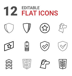 Insignia icons vector
