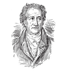 Johann wolfgang von goethe vintage vector