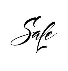 lettering sale handwritten vector image