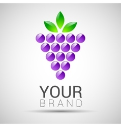 logo design template Branch of grape with vector image