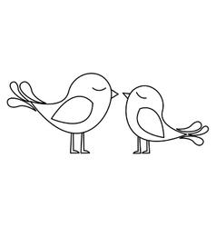 Lovebirds cartoon icon image vector