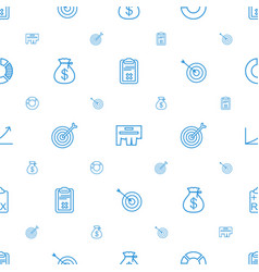 marketing icons pattern seamless white background vector image