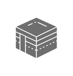 mecca religious building hejaz landmark vector image