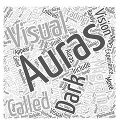 Migraine Auras Word Cloud Concept vector