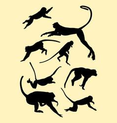 monkeys silhouette vector image