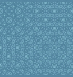 Neutral seamless linear flourish pattern vector