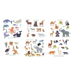 Ocean Forest Asian Australian African Animals vector