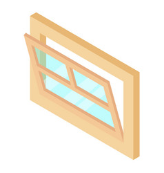 Open window leaf icon isometric 3d style vector