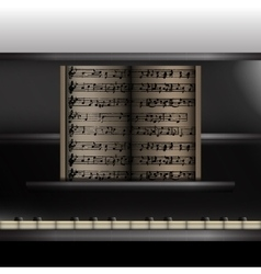 piano front view close-up vector image