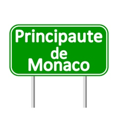 Principaute de Monaco road sign vector