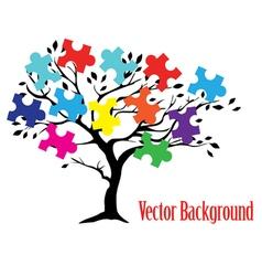 Puzzle tree vector