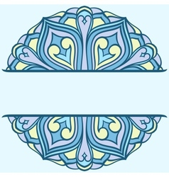 Rounded ornament vector