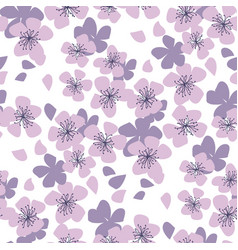 sakura cherry seamless pattern in pastel colors vector image