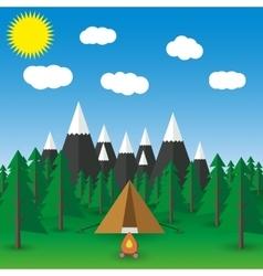 summer landscape flat vector image