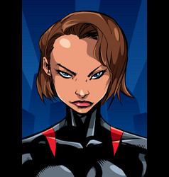 superheroine portrait night vector image