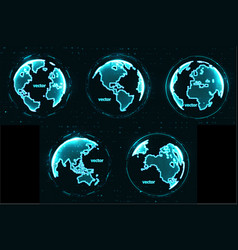 Technology image globe vector