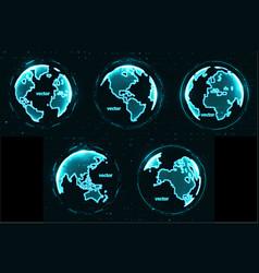 technology image globe vector image