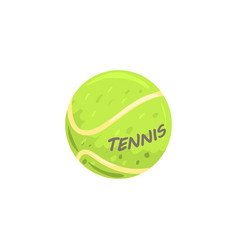 tennis ball sport equipment cartoon vector image