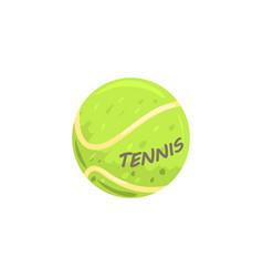 Tennis ball sport equipment cartoon vector