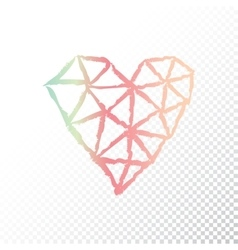 Triangular heart vector